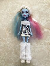 """Monster High 11"""" Doll ABBEY BOMINABLE ABBY SNOW SIGNATURE FIRST WAVE 1 1ST"""