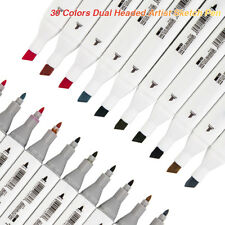 Set mit 30 Farben Zweiköpfiges Künstler Fettstift Skizze Stifte