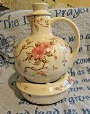 VINTAGE NARCO SPRING TIME FLORAL TEAPOT WITH LID AND WARMER 1940'S