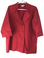Chef Uniform Coat Short Sleeve Chef Jacket Chef Shirts Work Wear Size 2Xl