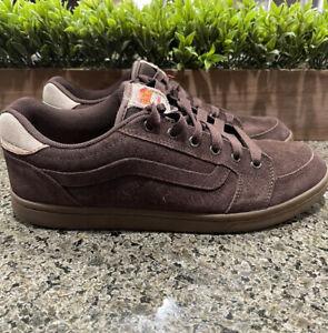 Vans John Cardiel Estilo Quattro Skate Shoes Brown Suede Men's Size 11.5