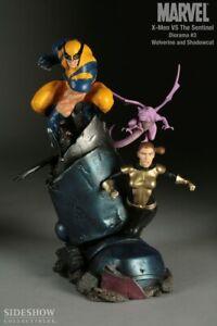 X-MEN VS SENTINEL~WOLVERINE & SHADOWCAT~DIORAMA #3~LE #45 / 1000~SIDESHOW~MIBS