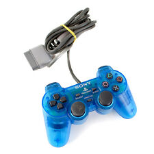 Official Sony PlayStation 1 PS1 Clear Blue Analogue Controller