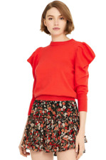 NWT - MISA Los Angeles Guthrie Cotton/Silk Sweater in Red Flame - Size M