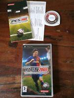 Pro Evolution Soccer 2009 Pes Sony Psp Completo con Manuale in Italiano