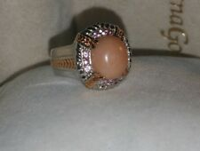 Gems En Vogue Michael Valitutti Ross Gold/Sterling silver Coral tourmaline ring