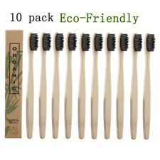 10pcs Travel Toothbrush Oral Care Soft Black Bristle Tooth Brushes Toothbrush