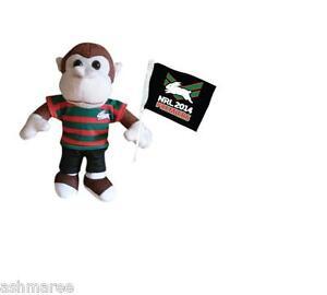 NRL South Sydney Rabbitohs 2014 Premiers Premiership Monkey Teddy with Flag L/E
