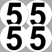 "4 Pcs 10cm 3.9"" Car Kart Bike Race Racing Cross Numbers Bumper Decor Stickers"