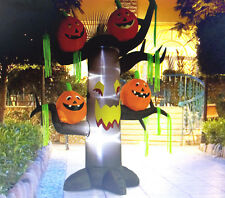 8' Scary Ghost Tree w/ Jack o Lantrens Halloween Airblown Inflatable Yard Decor