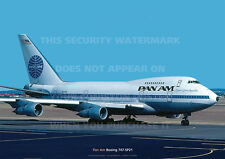 PAN AM BOEING 747-SP A3 COLOUR POSTER PRINT PICTURE PHOTO IMAGE x