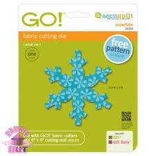 Accuquilt GO! Fabric Cutter Die Snowflake Winter Snow Flake Quilting 55359