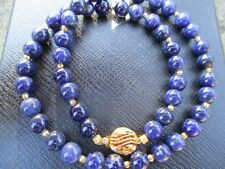 Vintage sodalite 8.5mm necklace 19inches approx.