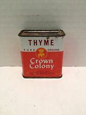 Vintage Crown Colony 1 OZ. Thyme Spice Tin - Safeway Stores Inc.