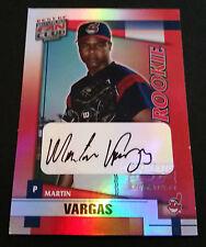 Martin Vargas Indians 2001 Donruss Fan Club Certified Authentic Autograph JG3