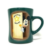 DISNEY STORE 3D Image MICKEY MOUSE Star MOVIE Stage Door Green Coffee Mug Cup