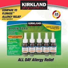 Kirkland Signature Aller-Flo, 600 Sprays - 5 Bottles, 120 Sprays Each Non-Drowsy