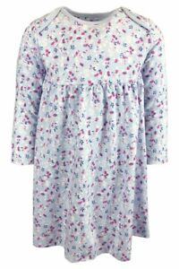New Mothercare Girls Flower Print Dress - NB to 24 Mnths - Free 1st Class Post