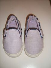 Toms Tiny Luca Slip-On Canvass Shoe - Beige - Infant Size 4T