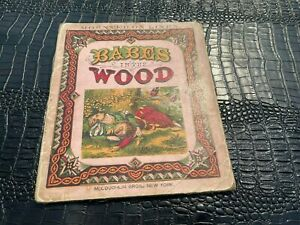 1880s BABES IN THE WOOD Aunt Louisa's Big Picture Book Series, McLoughlin Bros