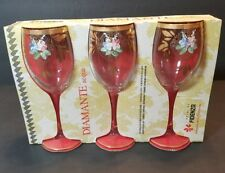 I Vetri Di Fidenza Hand Painted Wine Glass NOS Italy