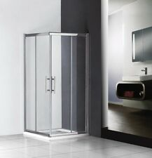 760x760mm sliding shower enclosure double door corner entry cubicle+Stone Tray