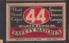 Ancienne   étiquette allumettes Tchécoslovaquie  AB39   44