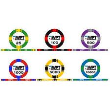 Sample pack fiches WPT World Poker Tour ceramica
