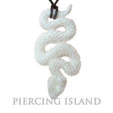 Schlange Snake Amulett Anhänger Kettenanhänger mit Band Kette Bone Knochen PB024