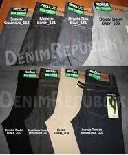 NWT New Men's Neo Blue Skinny Jeans Rigid Dark Blue, All Black, Khaki, Rinse Blk
