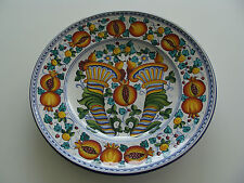 """CORNUCOPIA Pomegranate Platter Wall Plate Made in Italy for """"ARTISTICA"""" 16.5D"""