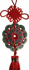 FSH048 Feng Shui I-Ching Chinese Money Calling Coin Hanger 10 + 2 Coins