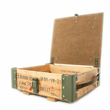 Army Ammo Box Wooden Tool Box Ammunition Storage With Carry Handles NATO Surplus