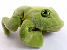 "Gund WWF Green Frog Hand Puppet Plush Amphibian Stuffed Animal 12"""
