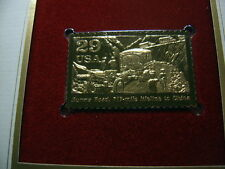 BURMA ROAD TO CHINA WORLD WAR II 22KT GOLD STAMP COMMEMORATIVE W STAMP #1