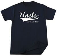 Uncle EST T-shirt Personalized Fathers Day Christmas Birthday Gift New Uncle Tee