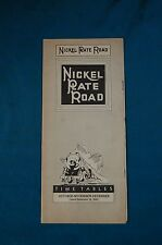 Vintage Train Railway Time Table Nickel Plate Road Chicago Cleveland 1938