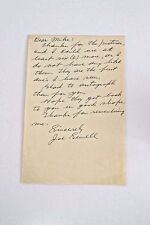 JOE SEWELL Hall of Fame 77 , Cleveland Indians, New York Yankees, letter signed