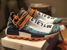 2338af8182eb5 Adidas Human Race NMD Size 9.5 HU Pharrell Williams Solar Pack BB9528 Orange