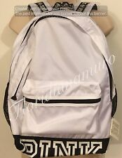 New Victoria's Secret PINK Campus Backpack Bag White Black Logo Rare NWT