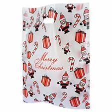 Medio Bio Degradable Plástico Santa Navidad Bolsas Navidad Claus Regalo Tienda