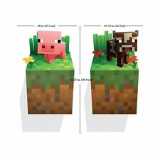 Minecraft Video Game 3D Vinyl Wall Decal Removeable Sticker Cling Pig Cow Poster