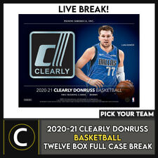 2020-21 caso Caja CLEARLY DONRUSS baloncesto 12 romper #B639 - Elige Tu Equipo