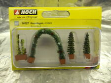 ** Noch 14022 Thuja (2) Rose and Rose Arch Ornamental Plants 1:87 Scale