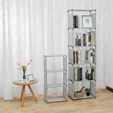 4 Tier Bookcase DIY Bookshelf Storage Wall Shelf Organizer Unit Display Stand