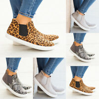 Women's Ladies Comfort Prints Slip On Casual Flat Sneaker Round Toe Shoes Size