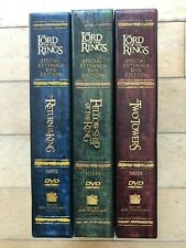 LORD OF THE RINGS LOTR Platinum Trilogy Extended Edition 12 DVD Set