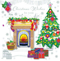 Christmas Wishes To You Greeting Card Embellished Talking Pictures Cards