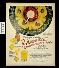 1953 Pineapple Canned Tropic Fresh Fruits Vintage Print Ad 20701