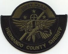 HERNANDO COUNTY FLORIDA FL SWAT SHERIFF POLICE PATCH